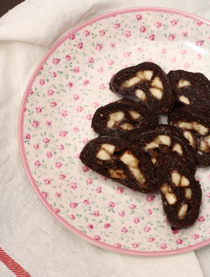 Rulada cu cacao si banane
