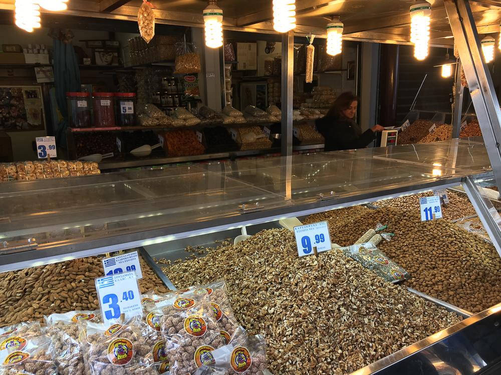 piata centrala atena nuci si seminte
