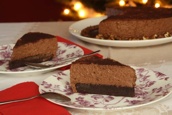 Tort cu mousse de castane si ciocolata