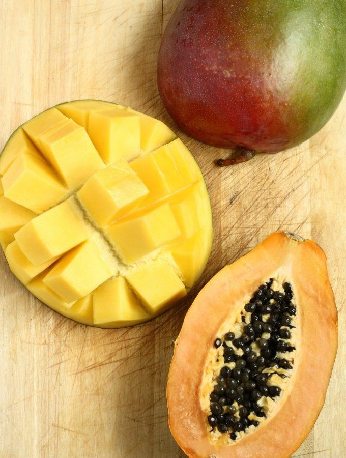 Suc de mango cu papaya