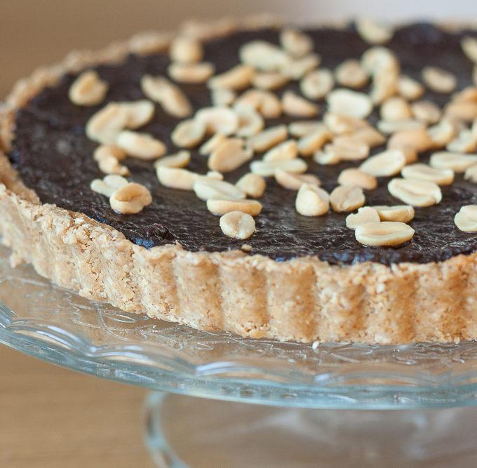 Tarta cu unt de arahide si ciocolata (vegana si fara gluten)